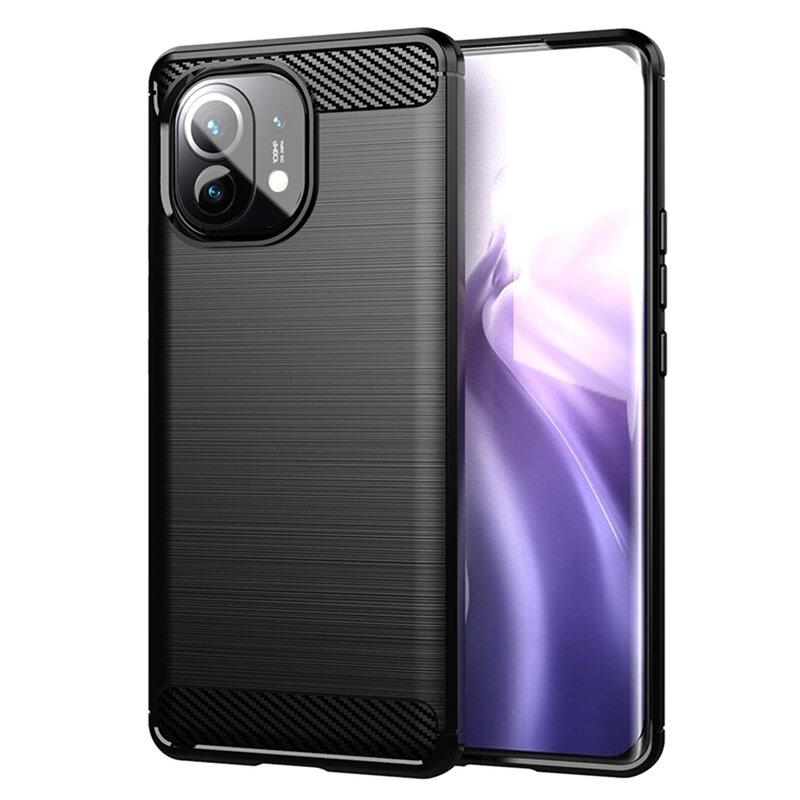 Husa Xiaomi Mi 11 Lite TPU Carbon - Negru