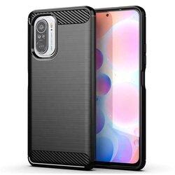 Husa Xiaomi Poco F3 TPU Carbon - Negru