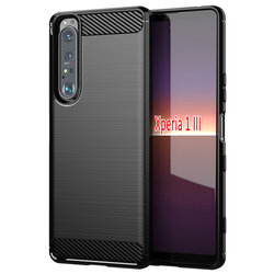 Husa Sony Xperia 1 III TPU Carbon - Negru