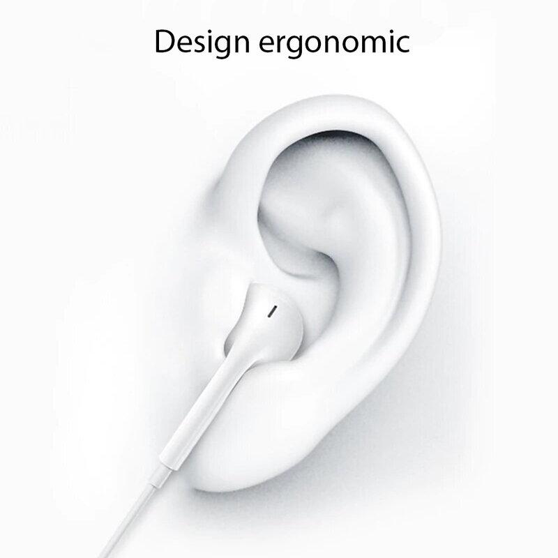 Casti cu fir in-ear Oppo MH135-3, stereo, microfon, Type-C, 1.2m, alb, bulk