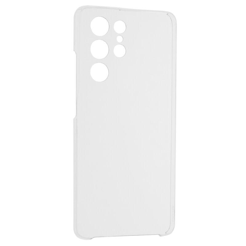 Husa Samsung Galaxy S21 Ultra 5G FullCover 360 Cu Senzor De Amprenta - Transparent
