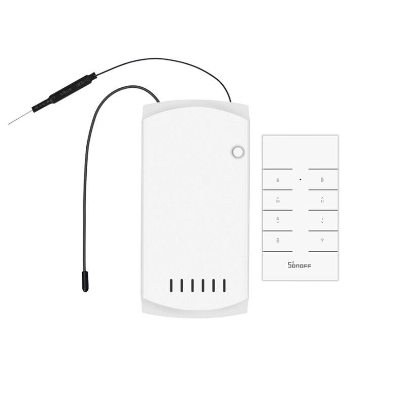 Controller wireless ventilator si lumina Sonoff iFan03 + telecomanda RF, alb