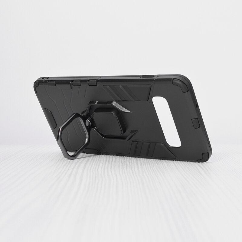 Husa Samsung Galaxy S10 Techsuit Silicone Shield, Negru
