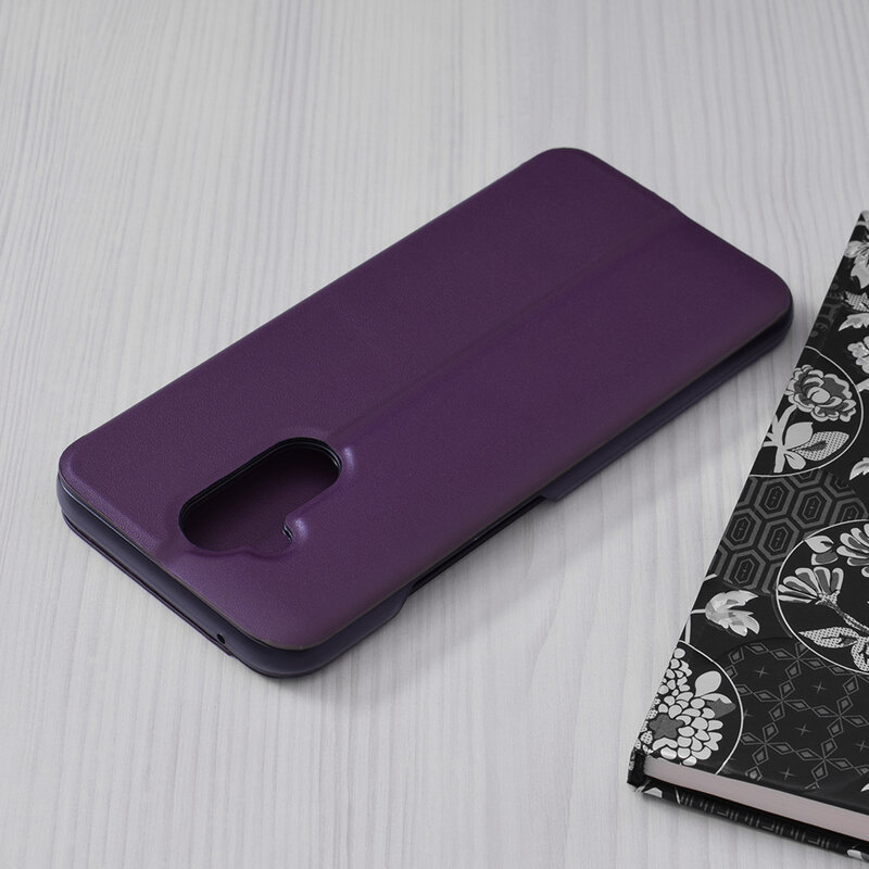Husa Huawei Mate 20 Lite Eco Leather View Flip Tip Carte - Mov