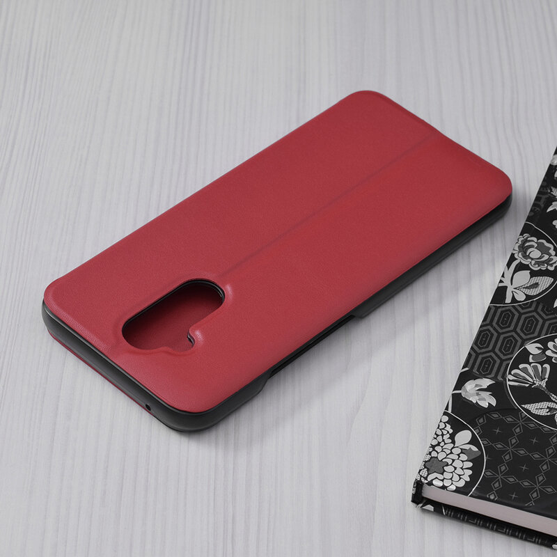 Husa Huawei Mate 20 Lite Eco Leather View Flip Tip Carte - Rosu
