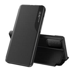 Husa Huawei P Smart 2021 Eco Leather View Flip Tip Carte - Negru
