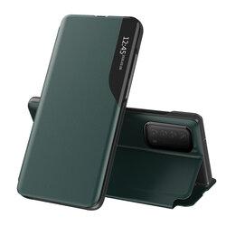 Husa Huawei P Smart 2021 Eco Leather View Flip Tip Carte - Verde