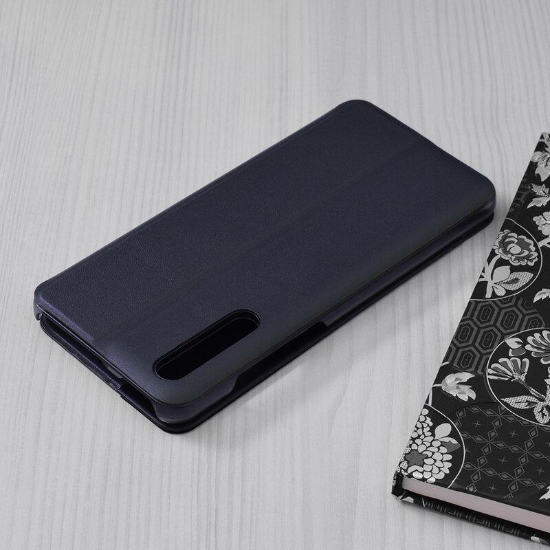 Husa Huawei P20 Pro Eco Leather View Flip Tip Carte - Albastru