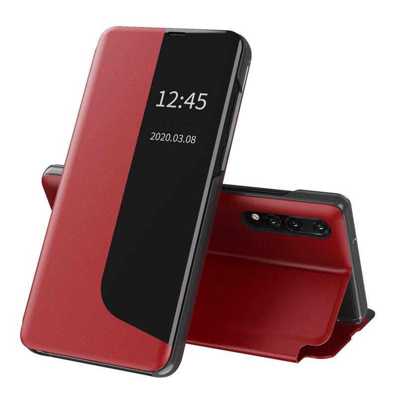 Husa Huawei P20 Pro Eco Leather View Flip Tip Carte - Rosu