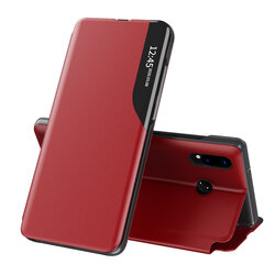 Husa Huawei P20 Lite Eco Leather View Flip Tip Carte - Rosu