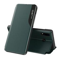 Husa Huawei P20 Lite Eco Leather View Flip Tip Carte - Verde