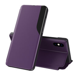 Husa iPhone XS Eco Leather View Flip Tip Carte - Mov