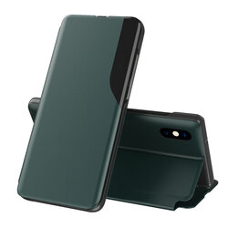 Husa iPhone XS Max Eco Leather View Flip Tip Carte - Verde