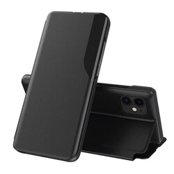 Husa iPhone 11 Eco Leather View Flip Tip Carte - Negru