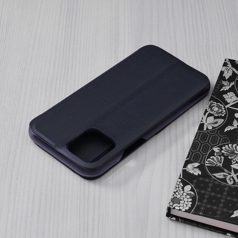 Husa iPhone 11 Pro Eco Leather View Flip Tip Carte - Albastru