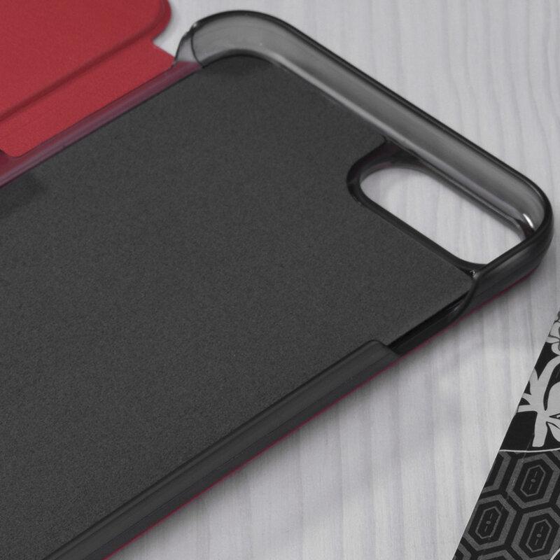 Husa iPhone 8 Eco Leather View Flip Tip Carte - Rosu