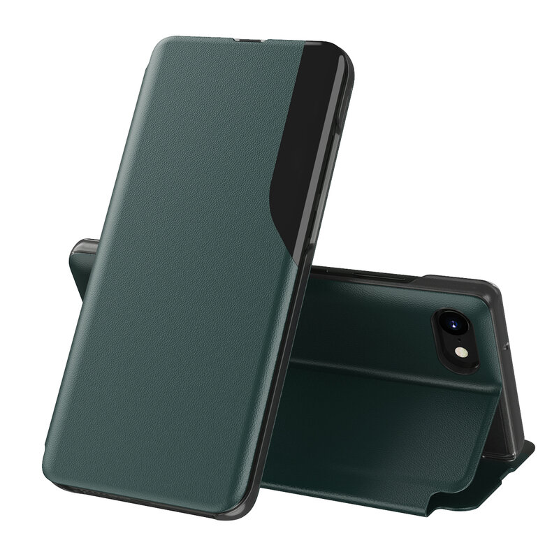 Husa iPhone 7 Eco Leather View Flip Tip Carte - Verde
