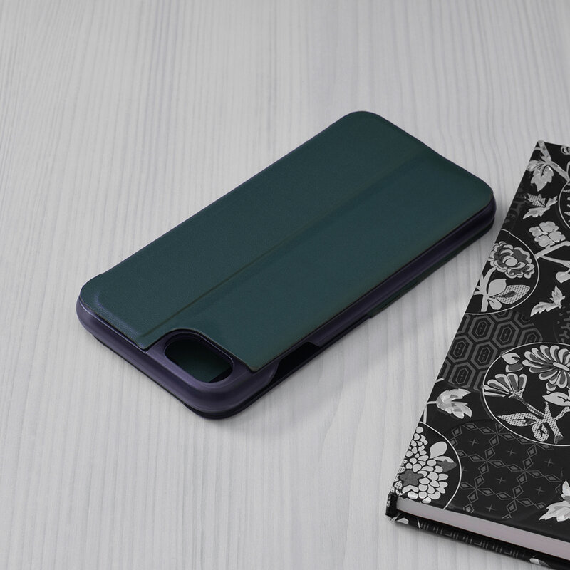 Husa iPhone 8 Eco Leather View Flip Tip Carte - Verde