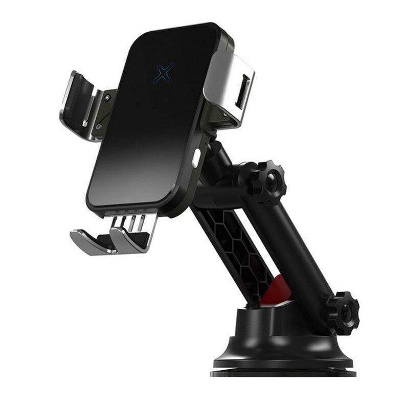 Suport telefon auto Tech-Protect R3 cu incarcator wireless, 15W, negru