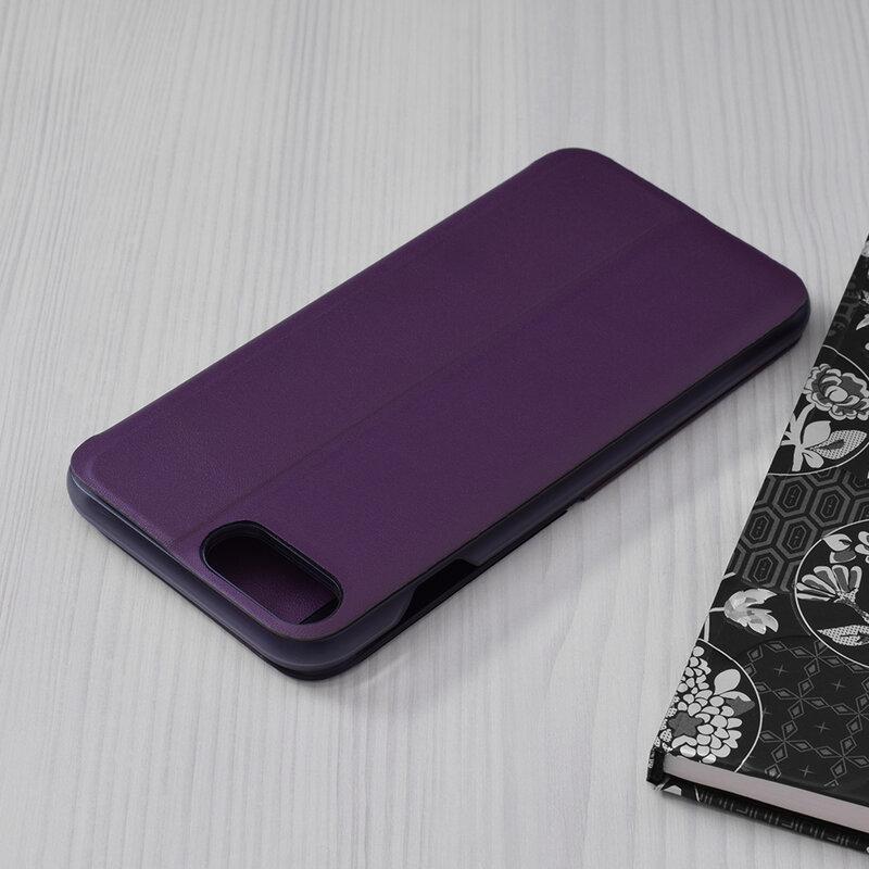 Husa iPhone 6 Plus / 6s Plus Eco Leather View Flip Tip Carte - Mov