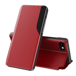 Husa iPhone 8 Plus Eco Leather View Flip Tip Carte - Rosu