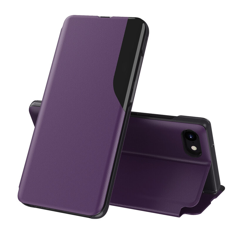 Husa iPhone 8 Eco Leather View Flip Tip Carte - Mov
