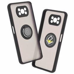 Husa Xiaomi Poco X3 Pro Mobster Glinth Cu Inel Suport Stand Magnetic - Negru