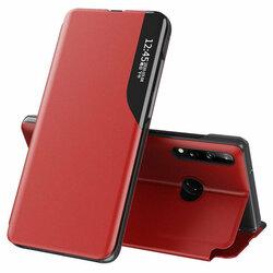 Husa Samsung Galaxy A20s Eco Leather View Flip Tip Carte - Rosu