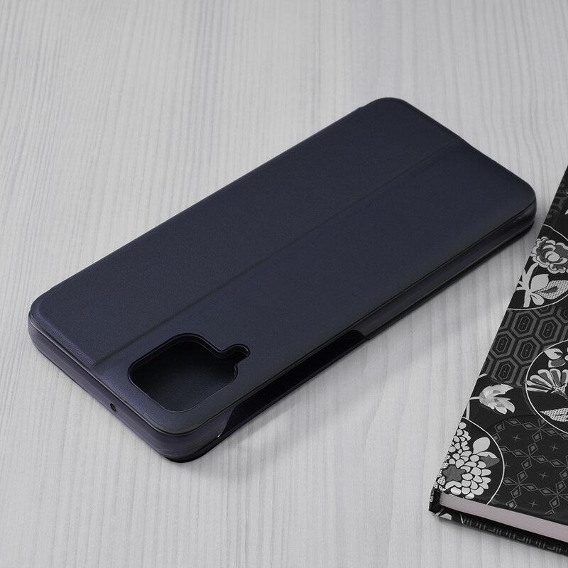 Husa Samsung Galaxy A12 Eco Leather View Flip Tip Carte - Albastru
