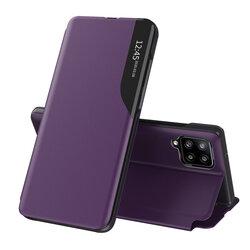 Husa Samsung Galaxy A12 Eco Leather View Flip Tip Carte - Mov
