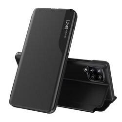 Husa Samsung Galaxy A12 Eco Leather View Flip Tip Carte - Negru