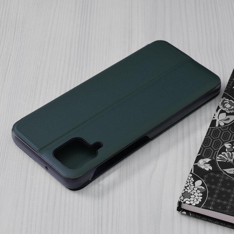 Husa Samsung Galaxy A12 Eco Leather View Flip Tip Carte - Verde