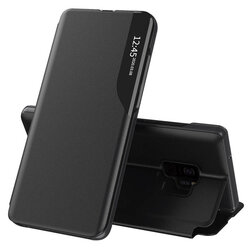 Husa Samsung Galaxy S9 Eco Leather View Flip Tip Carte - Negru