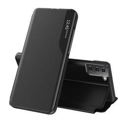 Husa Samsung Galaxy S21 5G Eco Leather View Flip Tip Carte - Negru
