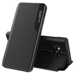 Husa Xiaomi Poco X3 NFC Eco Leather View Flip Tip Carte - Negru