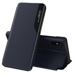 Husa Xiaomi Redmi 9A Eco Leather View Flip Tip Carte - Albastru