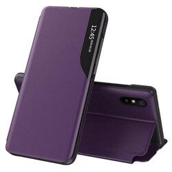 Husa Xiaomi Redmi 9A Eco Leather View Flip Tip Carte - Mov