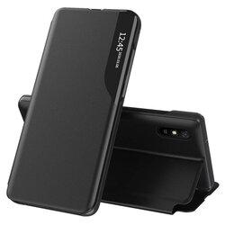 Husa Xiaomi Redmi 9A Eco Leather View Flip Tip Carte - Negru