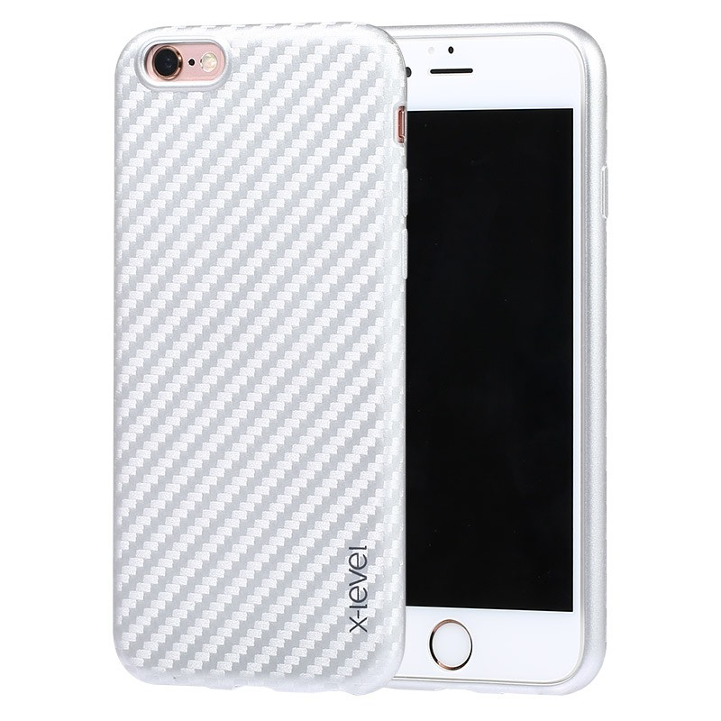 Husa Iphone 6,6s X-Level ColorFiber - Silver