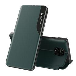 Husa Xiaomi Redmi Note 9 Pro Eco Leather View Flip Tip Carte - Verde
