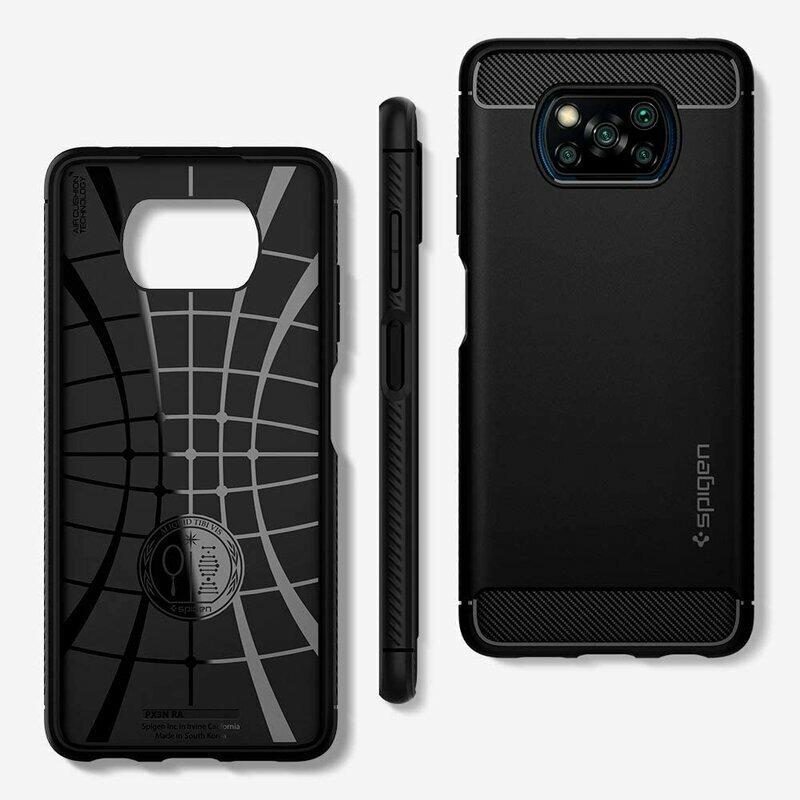 Husa Xiaomi Poco X3 Pro Spigen Rugged Armor - Matte Black