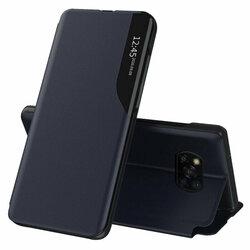 Husa Xiaomi Poco X3 Pro Eco Leather View Flip Tip Carte - Albastru