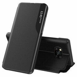 Husa Xiaomi Poco X3 Pro Eco Leather View Flip Tip Carte - Negru