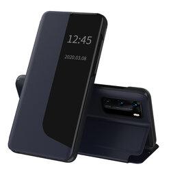 Husa Huawei P40 Eco Leather View Flip Tip Carte - Albastru
