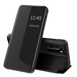 Husa Huawei P40 Eco Leather View Flip Tip Carte - Negru