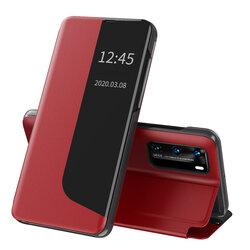 Husa Huawei P40 Eco Leather View Flip Tip Carte - Rosu