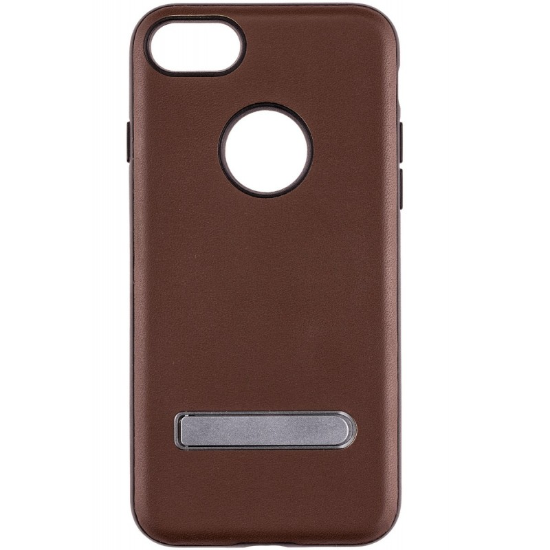Husa Apple Iphone 7 Totu Stand Design - Coffee Brown