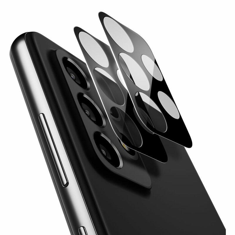 [Pachet 2x] Folie Sticla Camera Samsung Galaxy A72 5G Spigen Glas.t R Slim 9H Lens Protector - Black