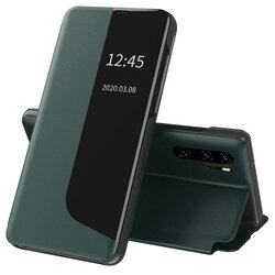 Husa Huawei P30 Pro New Edition Eco Leather View Flip Tip Carte - Verde