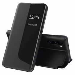 Husa Huawei P30 Pro Eco Leather View Flip Tip Carte - Negru